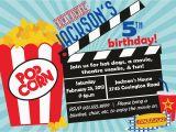Movie theater Birthday Invitations Movie theater Birthday Party Invitations Cimvitation