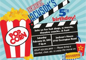 Movie theater Birthday Invitations Movie theater Birthday Party Invitations Cimvitation
