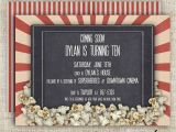 Movie theater Birthday Invitations Movie theater Birthday Party Invitations Girl or Boy Printable