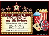 Movie theater Birthday Invitations Movie theater Birthday Party Invitations Style 2 Crafty