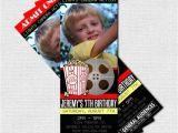 Movie theater Birthday Invitations Movie Ticket Invitations theater Birthday Party by nowanorris