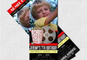 Movie theater Birthday Invitations Movie Ticket Invitations theater Birthday Party by nowanorris