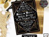Murder Mystery Birthday Party Invitations Murder Mystery 40th Birthday Party Great Gatsby themed Party
