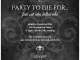 Murder Mystery Birthday Party Invitations Murder Mystery Black Dinner Party Invitation Dinner
