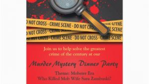 Murder Mystery Birthday Party Invitations Murder Mystery Dinner Party Invitation Zazzle Com