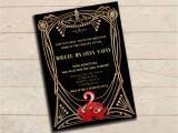 Murder Mystery Birthday Party Invitations Murder Mystery Great Gatsby Inspired Party Invitation Black