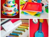 Music themed Birthday Decorations Kara 39 S Party Ideas Baby Jam Musical themed 1st Birthday Party