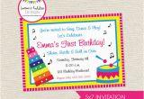 Music themed Birthday Invitations Free Printable Music themed Birthday Party Invitations