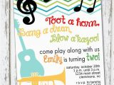 Music themed Birthday Invitations Music Musical Instruments Invitation