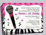 Music themed Birthday Party Invitations Music themed Birthday Party Invitations Best Party Ideas