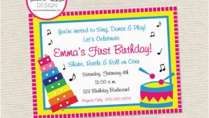 Music themed Invitations for Birthday Free Printable Music themed Birthday Party Invitations