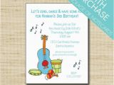 Music themed Invitations for Birthday Music Birthday Invitation Kids Music themed Party