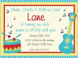Music themed Invitations for Birthday Music Birthday Invitation Music Birthday Music