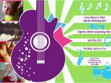 Music themed Invitations for Birthday Music Birthday Party Invitations Oxsvitation Com
