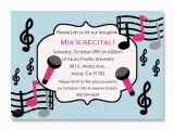 Music themed Invitations for Birthday Music themed Birthday Party Invitations Best Party Ideas