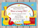 Music themed Invitations for Birthday Printable Music Birthday Party Invitation Music Party