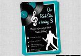 Music themed Invitations for Birthday Rock Roll Music Birthday Party Invitation