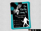 Music themed Invitations for Birthday Rock Roll Music Birthday Party Invitation