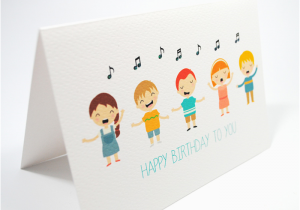 Musical Birthday Cards for Children Happy Birthday Card Kids Singing Happy Birthday Hbc169