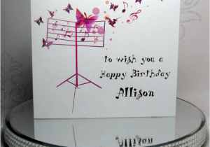 Musical Birthday Cards for Children Musical butterflies Birthday Card