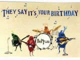 Musical Birthday Cards for Facebook Pack Of 10 Funny Beatles Happy Birthday Postcards Ten