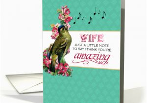 Musical Birthday Cards For Husband Wife Singing Bird With Pink Flowers Note Mother 39 S