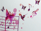 Musical Birthday Cards for Kids Musical butterflies Birthday Card