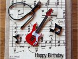 Musical Birthday Cards for son Handmade Cards Handmade Birthday Cards Band Card Music