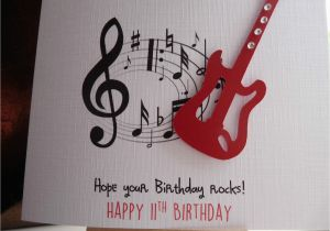 Musical Birthday Cards For Son Handmade Personalised Guitar Male Card