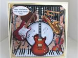 Musical Birthday Cards for son Musical Instruments Birthday Card 7x7inch
