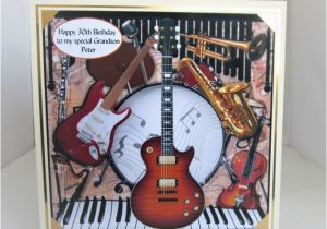 Musical Birthday Cards For Son Instruments Card 7x7inch