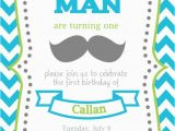 Mustache First Birthday Invitations Items Similar to Mustache Bash First Birthday Invitation
