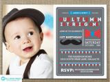 Mustache First Birthday Invitations Items Similar to Mustache Invitation Little Man Birthday