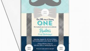 Mustache Invitations for First Birthday First Birthday Invitation Boy Mustache Birthday Party