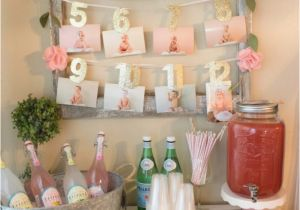 My First Birthday Party Decorations 21 Pink and Gold First Birthday Party Ideas Pretty My Party