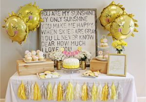 My First Birthday Party Decorations Doo Dah You are My Sunshine 1st Birthday