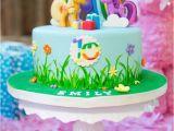 My Little Pony Birthday Cake Decorations Kara 39 S Party Ideas Glam Floral My Little Pony Birthday