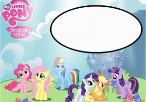 My Little Pony Birthday Cards Free Invitations Template Resume Builder