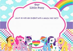 My Little Pony Birthday Cards Free Updated Printable
