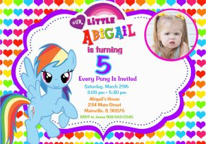 My Little Pony Personalized Birthday Invitations Party Free Printable