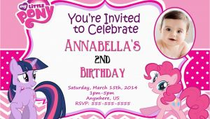 My Little Pony Personalized Birthday Invitations My Little Pony Personalized Birthday Invitations Best
