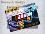 Nascar Birthday Card Nascar Race Style Custom Birthday Invitation Thank by