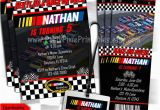 Nascar Birthday Invitations Nascar Birthday Invitations 5×7 Card or Ticket Style or