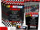Nascar Birthday Invitations Nascar Birthday Invitations 5×7 Card or Ticket Style or