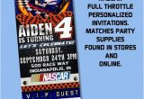 Nascar Birthday Invitations Nascar Invitations Full Throtte theme by Partyprintsplus