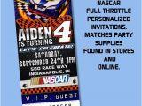 Nascar Birthday Invitations Nascar Invitations Full Throtte theme by Partyprintsplus