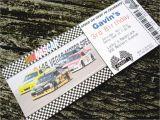 Nascar Birthday Invitations Nascar Racing Ticket Custom Printable Birthday Invitation