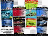 Nascar Birthday Invitations Nascar Ticket Party Invitation Ticket Style Pit Pass
