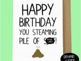 Nasty Birthday Cards Rude Insulting Birthday Card Pile Of Sht Nasty Card Adult