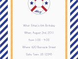 Nautical Birthday Invitations Free 7 Best Images Of Free Printable Nautical Invitations